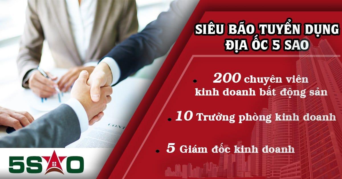 Trưởng phòng Kinh doanh Bất động sản Lương 12-15 TRIỆU + Hoa hồng