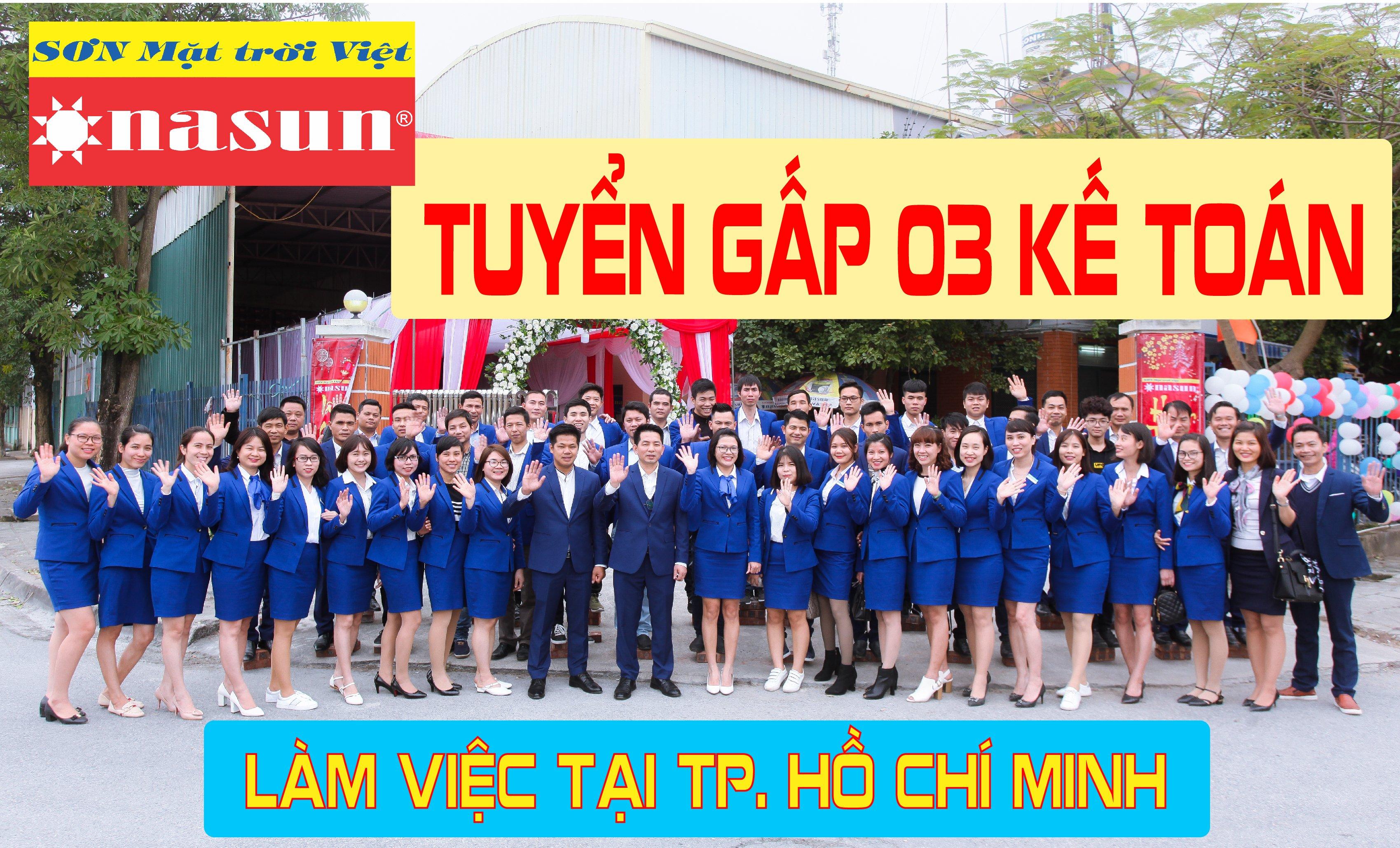 Tuyển 3 Nhân viên kế toán làm việc tại TP Hồ Chí Minh