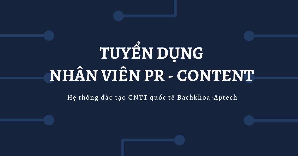 Nhân viên PR Content