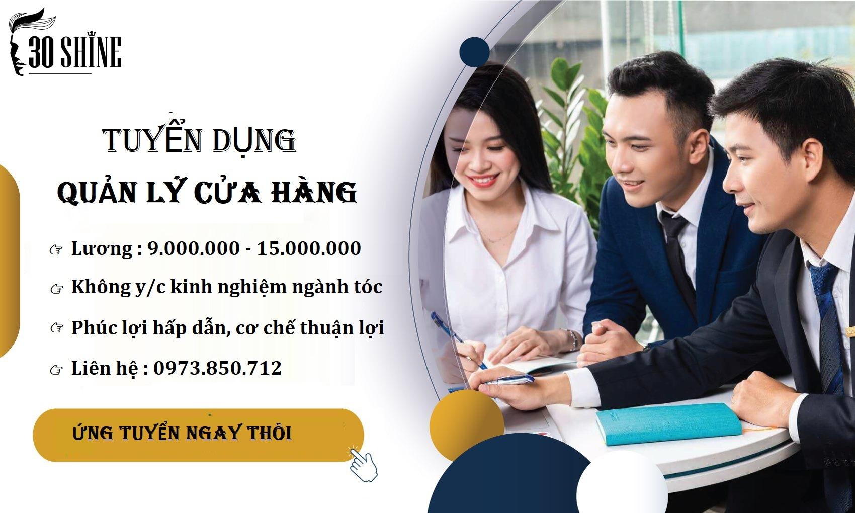 Quản lý cửa hàng tại Hà Nội, Hồ Chí Minh, Thái Nguyên