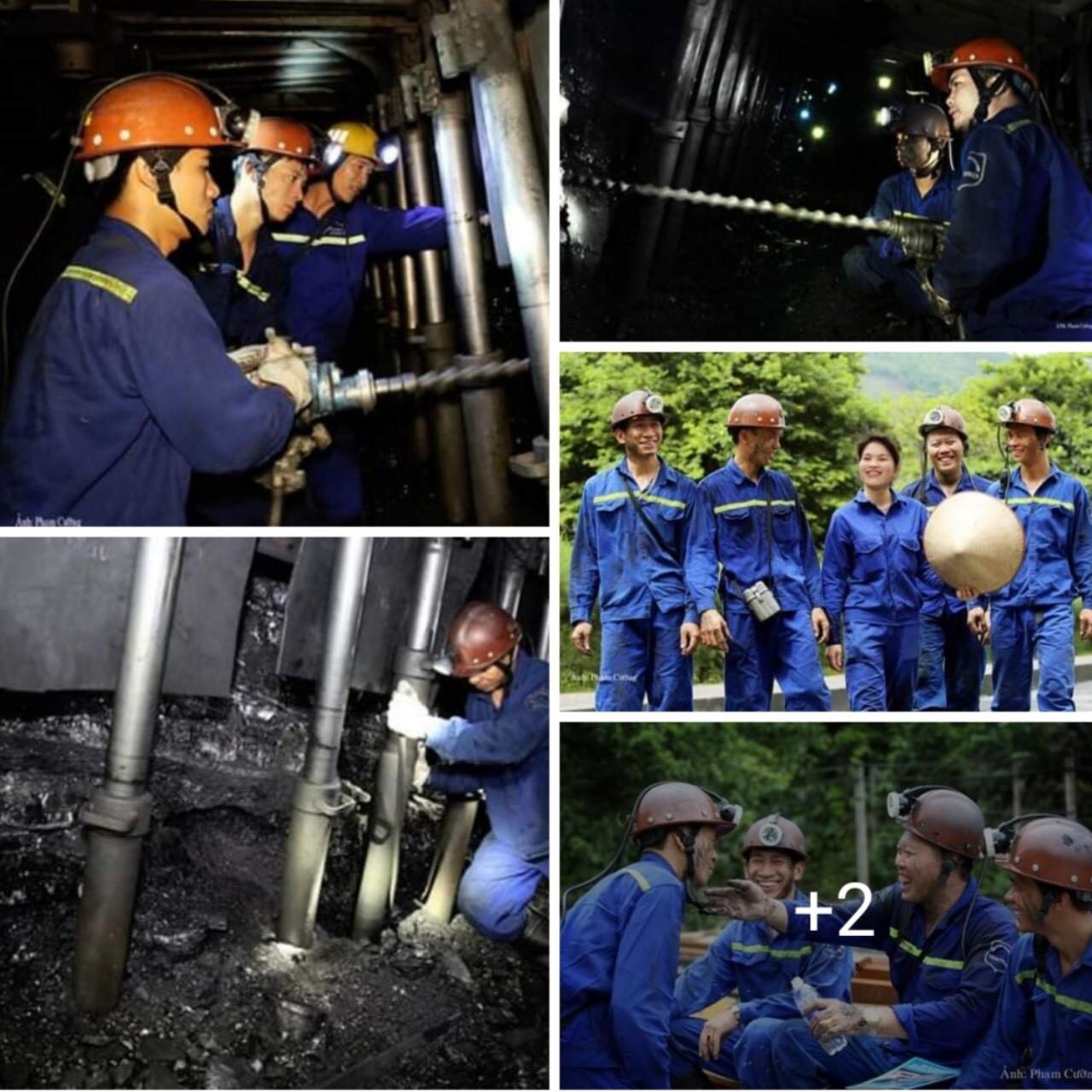 Công nhân khai thác mỏ than, công nhân cơ điện