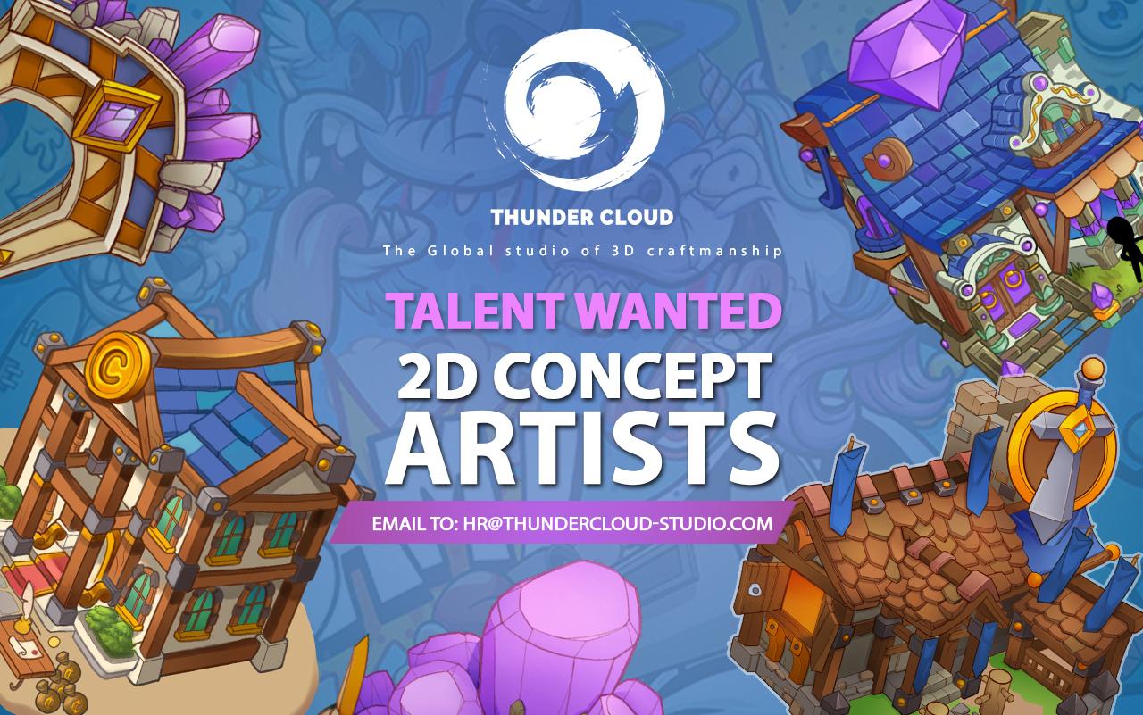 2D concept artist làm việc theo dự án