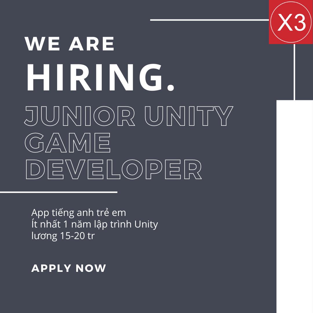 Junior/ Middle Unity Developer (Game 2D)